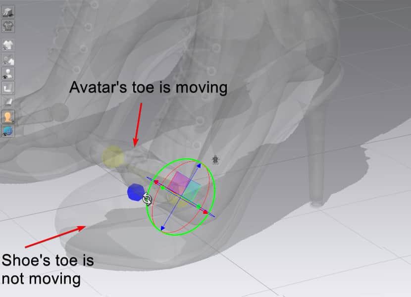 Rotating the bone in Clo 3D