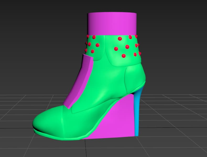 Ready 3D shoe model with simple materials