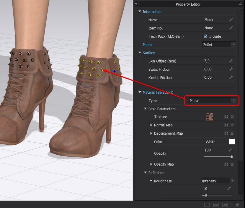Setup realistic materials in CLO 3D