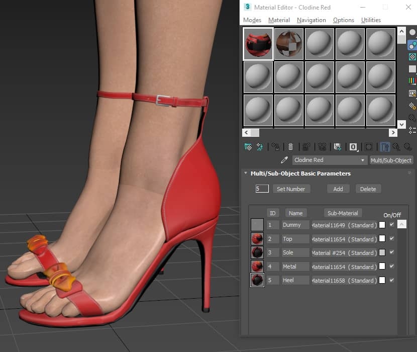 Sexy Red high heels 3D model free