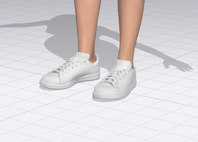 Export shoes to clo 3d standard flats