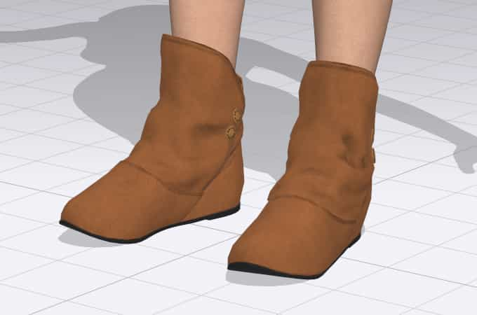 Import 3d boots to clo 3d