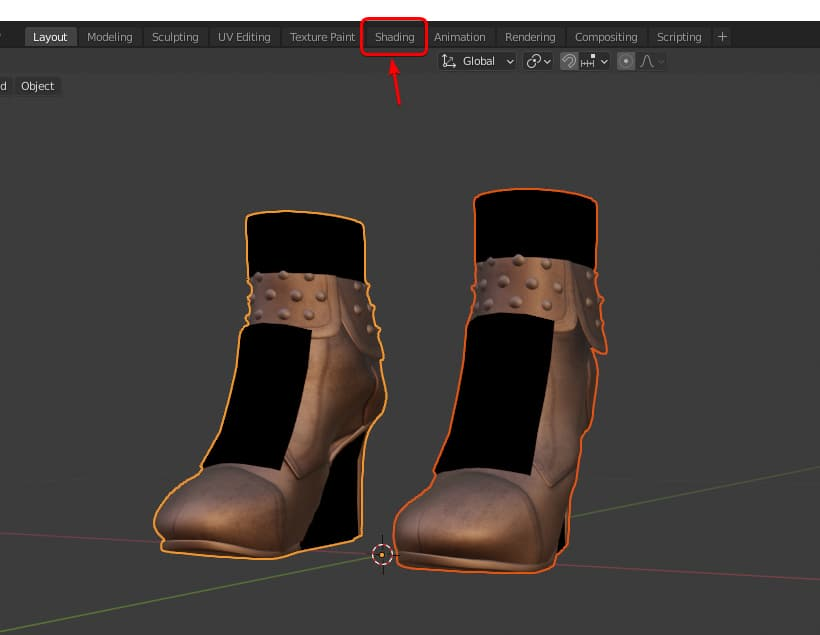 Create shoes in blender