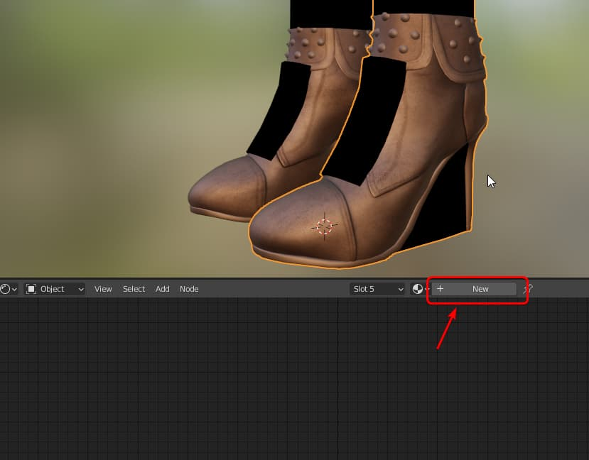 Create and render 3D shoes